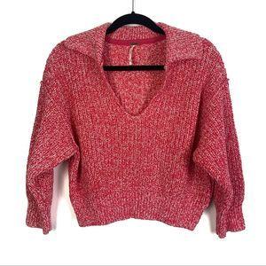 Free People Cropped Knit Sweater XS